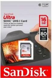 Cartão de memoria 16 gb, lacrado, novo