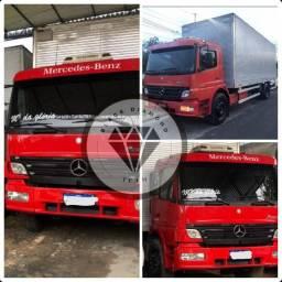 Caminhão baú MB 1418 TOCO