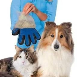 Luva de silicone para lavar animais