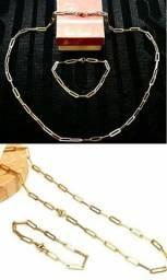 Conjunto c/ouro 14k Pierre Cardin