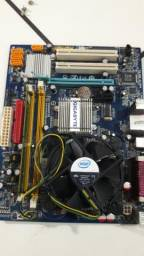 Placa mãe DDR 2 com processador, cooler r memória Ram