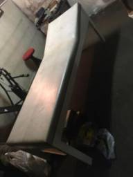 Cama de massagem branca em madeira - medidas 2,00 por 0,62 cm - retirar em sbc
