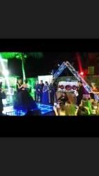 DJ , som e iluminação