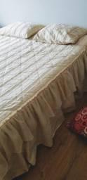 Colcha de cama cetim e veludo