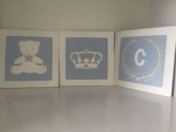 3 quadros para quarto bebê
