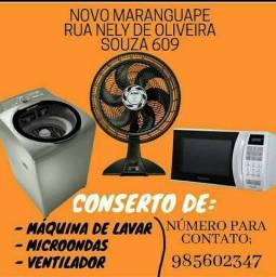 Conserto máquina de lavar e microondas em Maranguape