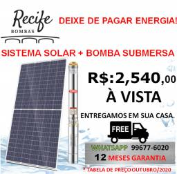 Bomba Submersa Solar 270W (Bomba Solar + Placa)