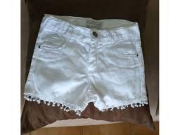 Short jeans infantil tamanho 6