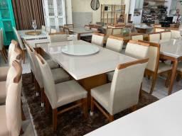 Mesa EUCLAR de jantar nova completa pronta entrega 8 lugares
