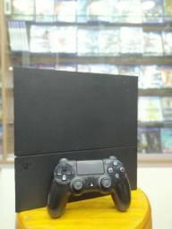 PS4 fat 500gb usado com 1 jogo e 6 meses de garantia