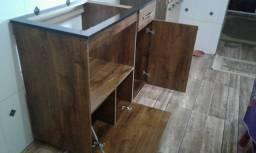 Gabinete para fogão Cooktop.