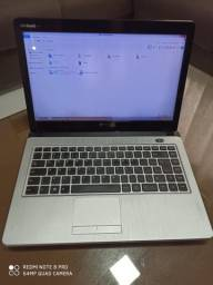 Notebook Dual Core com 4gb de memória ram+HD 320gb. Pronto para usar, já com programas