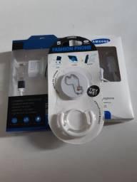 Carregador de Celular 3.1+ Fone de ouvido Samsung+Bótons para celular.
