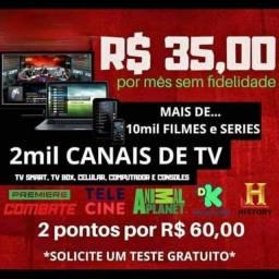 Pacotes para smart tv, tv boc, pc entre outros aparelhos