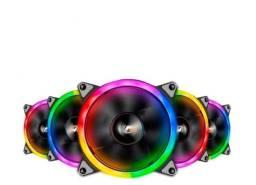 Kit Ventoinhas Aigo DarkFlash DR12 Pro 5in1 RGB 5x120mm<br><br>