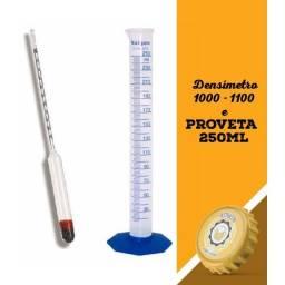 1 Termômetro Incoterm + 1 Densímetro + 1 Proveta