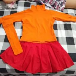 Fantasia da Velma do Scooby-Doo.
