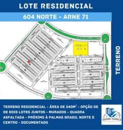 Terreno Residencial - Murado - Perto Palmas Brasil Norte - 604 NORTe