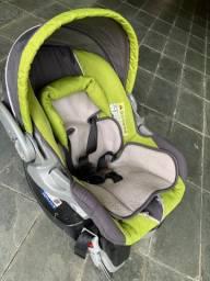 Bebê Conforto com Base Isofix e Capota Verde Baby Trend | Produto Usado