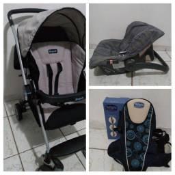 Carrinho de bebê+BB conforto+Canguru (Burigotto)semi novo