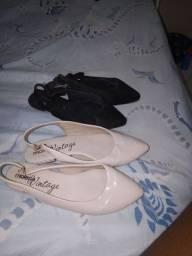 2 pares de sapato moleca vintage por apenas r$ 50