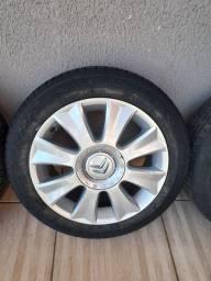 Rodas originais c4 pallas 2 pneus novos
