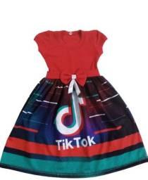 Vestido Tik Tok e Now United infantil