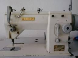 Maquina de costura industrial Singer reta e zigzag p/ materiais pesados
