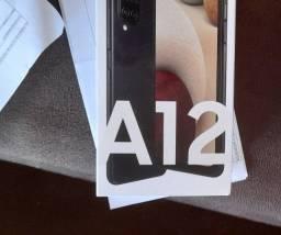 Barato! Samsung A12 Novo, lacrado, nota fiscal e garantia de 1 ano só aqui