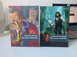 Livros em inglês - Conan the barbarian e Sherlock Holmes