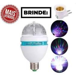 Título do anúncio: Lâmpada De Led Colorido Giratório Festa Balada Efeitos Luzes<br><br>