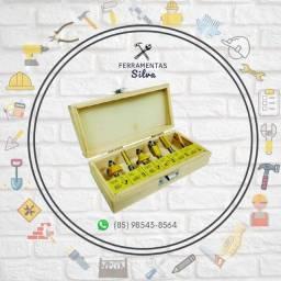 Kit de 06 Fresas Madeira - Titanium [Produto Novo/Embalagem Lacrada]