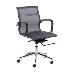 Título do anúncio: Cadeira Escritório Diretor Esteirinha Charles Eames Tela Cinza