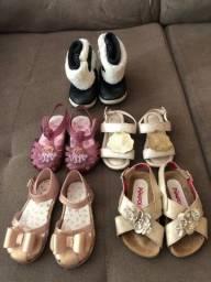 Lote de sapatos bebê