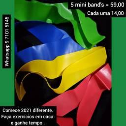Elásticos, mini band, extensores e miito mais