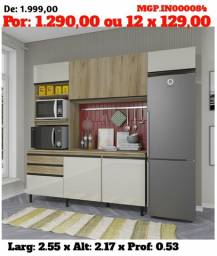 Grande Promoção MS- Armario de Cozinha- Cozinha Compactado com Balcão Lindissimo