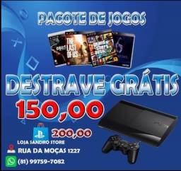 Título do anúncio: 1500 Jogos + Destrave PS3