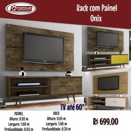 Rack com painel Onix Entrega em 3 dias