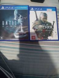 The witcher e Until Dawn PS4