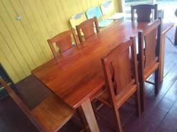 Mesa de macacauba 6 lugares