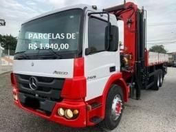 Mercedes-Bens 2426 2018, com Munck de 45 Toneladas, com Serviço com entrada + parcelas