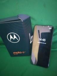 Moto e7 plus 64gb 4gb ram 2meses de uso acessórios originais e nota fiscal
