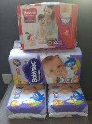Troca/ Venda Fraldas Babysec Premium M e Huggies M por XG