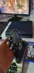 Ps4 slim HD 500gb 1 controle + 5 jogos em mídia física,  so 1850$