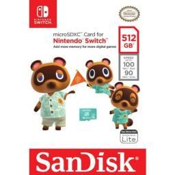 Cartão De Memória Sandisk Nintendo Switch 512gb Origina