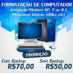 Formatação computadores e notebooks