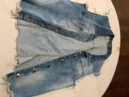 Colete jeans + calça social