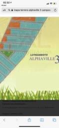Terreno Alphaville 3 em frente a praça
