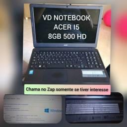 "NOTEBOOK ACER / Tela 15.6""/ Core i5 / 8GB / 500 HD + mochila Targus. (brinde)"