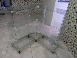 Balcão em vidro expositor